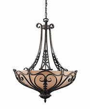 New Triarch 31082 Lighting 6 Light Passion Classic Bowl Chandelier Bronze Oro