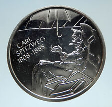 2008 GERMANY Painter & Artist Carl Spitzweg Proof Silver 10 Euro Coin i75163