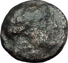 MYRINA in AEOLIS 2-1cBC Authentic Ancient Greek Coin APOLLO AMPHORA LYRE i63123