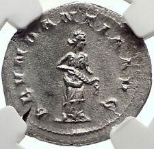 TRAJAN DECIUS Authentic Ancient 250AD Silver Roman Coin w ABUNDANTIA NGC i68946