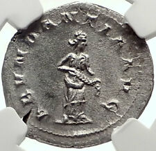 TRAJAN DECIUS Authentic Ancient 250AD Silver Roman Coin w ABUNDANTIA NGC i68946