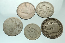 GROUP LOT of 5 Old SILVER Europe or Other WORLD Coins for your COLLECTION i75687