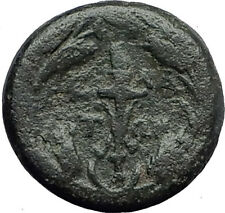 ELAIA in AEOLIS 2-1CentBC Authentic Ancient Greek Coin DEMETER & TORCH  i62844