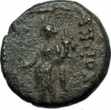 ANTIOCH in SELEUKIS Authentic Ancient 58BC Very RARE R3 Greek Coin TYCHE i67693