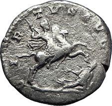 SEPTIMIUS SEVERUS riding horse 193AD Authentic Ancient Silver Roman Coin i70204