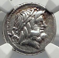 Roman Republic 80BC Rome Ancient Silver Coin JUPITER & JUNO SOSPITA NGC i77276