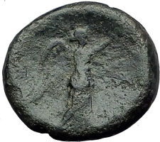 PERGAMON in Mysia Genuine  133BC Authentic Ancient Greek Coin ATHENA NIKE i62825