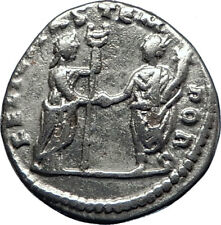 GETA 198AD Silver Genuine Authentic Ancient Roman Coin Felicitas i70305