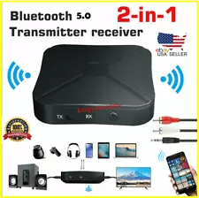 2-in-1 5.0 Bluetooth Wireless Audio Aux 3.5mm Adapter Transmitter and Receiver