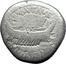MARK ANTONY Cleopatra Lover 32BC Authentic Ancient Silver Roman Coin SHIP i64506