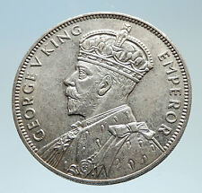 1934 MAURITIUS British King George V Antique Genuine Silver Rupee Coin i75337