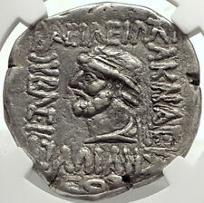 ELYMAIS King KAMNASKIRES V 54BC Authentic Ancient Tetradrachm Coin NGC i68291