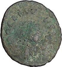 ARCADIUS 383AD Ancient Roman Coin VICTORY Nike  Chi-Rho Christ Monogram i42514