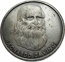 1990's Italian Artist Renaissance Italy  LEONARDO DA VINCI AVIATION Medal i75384