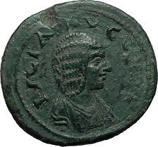 JULIA DOMNA Ancient 193AD Stobi in Macedonia Roman Coin w NIKE VICTORY i66520