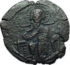 JESUS CHRIST Class D Anonymous Ancient 1042AD Byzantine Follis Coin Rare  i66446