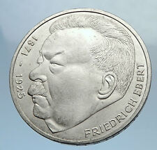 1975 GERMANY Politician Friedrich Ebert Antique Silver 5 Mark GERMAN Coin i71978