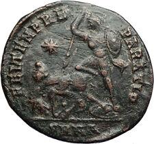 CONSTANTIUS II Authentic Ancient GLADIATOR Style BATTLE SCENE Roman Coin i71074