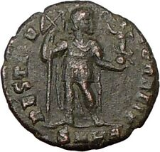 VALENTINIAN I 364AD Ancient  Roman Coin Labarum CHI-RHO CHRIST Monogram i19246