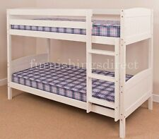 Classic 2ft6 Shorty White Bunk Bed 2 X Mattresses Splits Into Beds