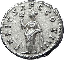 ANTONINUS PIUS  159AD Rome Silver Authentic Ancient Roman Coin  Felicitas i70285