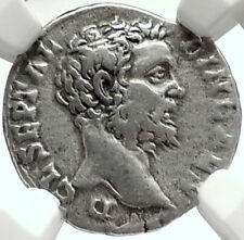 CLODIUS ALBINUS 194AD Rome Authentic Ancient Silver Roman Coin RARE NGC i68402