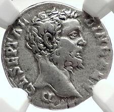 CLODIUS ALBINUS 194AD Rome Authentic Ancient Silver Roman Coin RARE NGC i68402