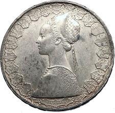 1958 ITALY - CHRISTOPHER COLUMBUS DISCOVER America SILVER Italian Coin i69477