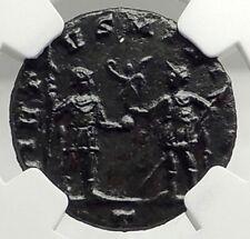 AURELIAN Authentic Ancient 270AD Milan Original Roman Coin w SOLDIER NGC i76296