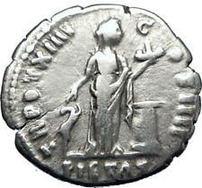 ANTONINUS PIUS  138AD Silver Authentic Ancient Roman Coin PIETAS i70278
