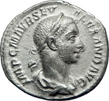 SEVERUS ALEXANDER 227AD Rome Silver Genuine Ancient  Roman Coin Aequitas i70081