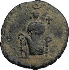 EUDOXIA Arcadius Wife 400AD Authentic Ancient Roman Coin HAND OF GOD i67737