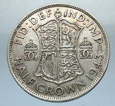 1944 Great Britain United Kingdom UK GEORGE VI Silver Half Crown Coin i66835