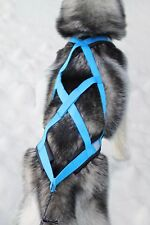 X-Back Weight Pulling Dog Harness for Bike, Skijoring, Scooter, Sleigh, in blue