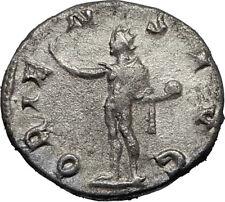 GORDIAN III 243AD Silver Authentic Genuine Ancient Roman Coin SOL SUN  i67151
