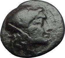 MYRINA in AEOLIS 2-1cBC Authentic Ancient Greek Coin APOLLO AMPHORA LYRE i63143