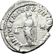 COMMODUS son of Marcus Aurelius 192AD Ancient Silver Roman Coin Liberty i73597