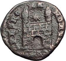 MAGNUS MAXIUMS 383AD Authentic Ancient Roman Coin LEGIONARY CAMP GATE i65061