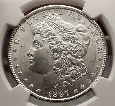 1897 MORGAN SILVER DOLLAR United States of America USA Coin NGC MS 63 i57743