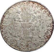1960 AUSTRIA Carinthian Plebiscite 40th Antique Silver 25 Schilling Coin i72037