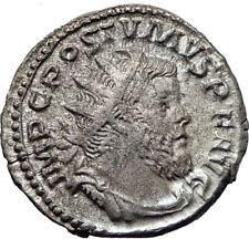POSTUMUS  260AD Silver Authentic Genuine Ancient Roman Coin Victory i65351