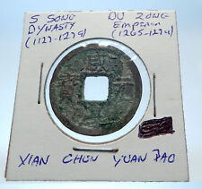 1265AD CHINESE Southern Song Dynasty Genuine DU ZONG Cash Coin of CHINA i72590