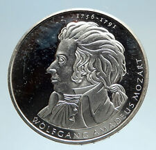 2005 GERMANY Mozart with Musical Notes Genuine Silver German 10 Euro Coin i75077