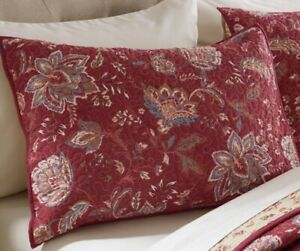 red quilted pillow shams for sale in