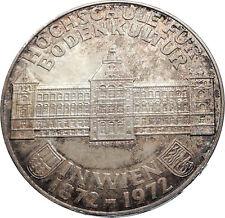 1972 AUSTRIA Agriculture School Antique Silver 50 Schilling Austrian Coin i72039