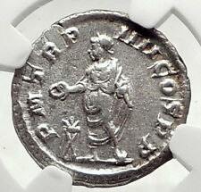 SEVERUS ALEXANDER Authentic Ancient 225AD Silver Roman Coin of Rome NGC i72794