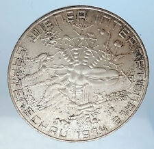 1974 AUSTRIA Garden Flower Show Antique Silver 50 Schilling Austrian Coin i72040