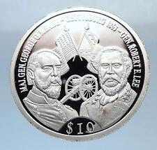 2000 Proof Silver LIBERIAN GETTYSBURG GENERALS LEE & MEADE LIBERIA Coin i71845