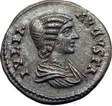 JULIA DOMNA 196AD Ancient Authentic Silver Roman Coin CONCORDIA Harmonia i63331