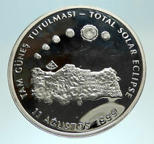 1999 TURKEY Total Solar Eclipse Sun Silver Islamic 4 million Lira Coin i76801